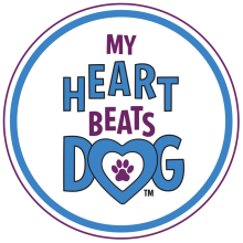 my heart beats dog magnet for dog lovers