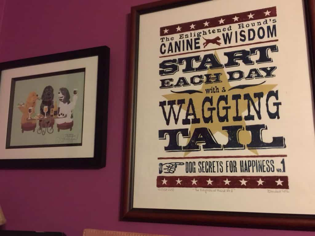Framed prints with a dog theme