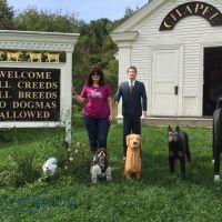 dog chapel with my dog