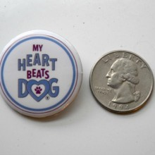 My heart beats dog pin for dog lovers