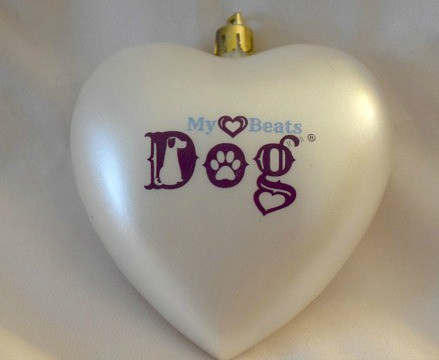 My heart beats dog ornament for dog lovers