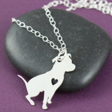 Silver plated pit bull