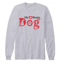 my heart beats dog long sleeve tee