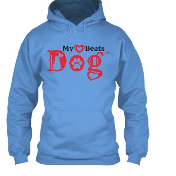 my heart beats dog pullover hoodie