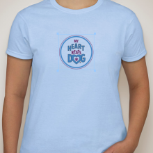 My heart beats dog blue t-shirt
