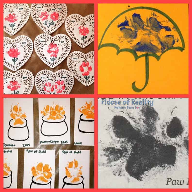 Custom dog paw holiday card ideas