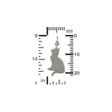 Sterling silver silhouetted kitty size chart