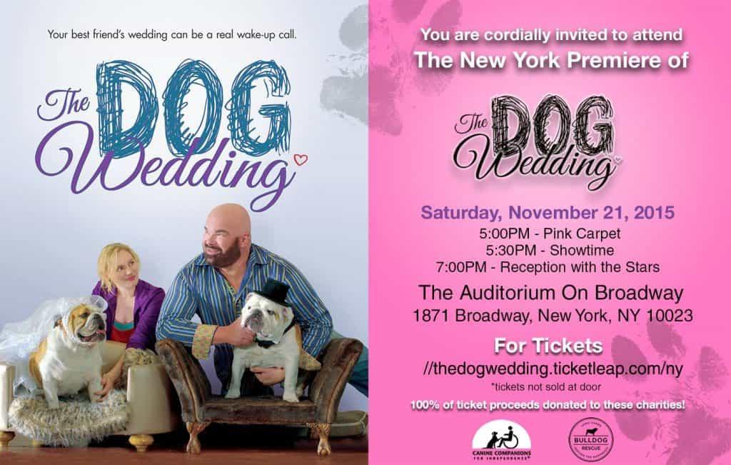 Dog wedding tickets