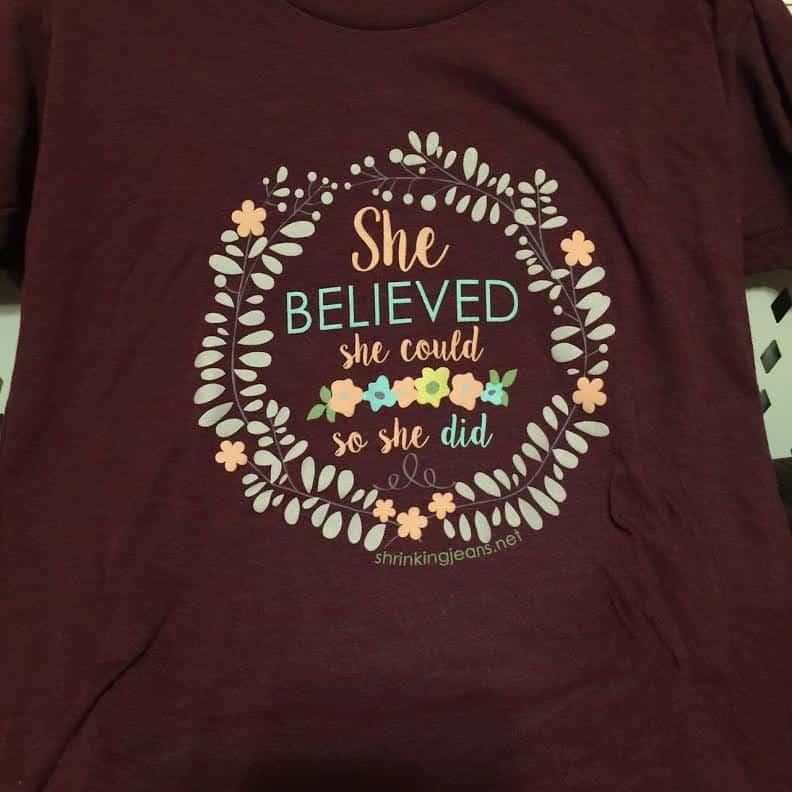Believe t shirt