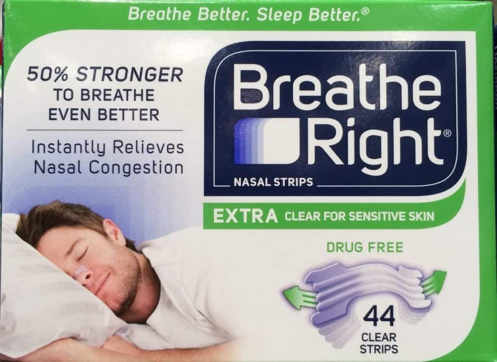 Breathe Rights nasal strips