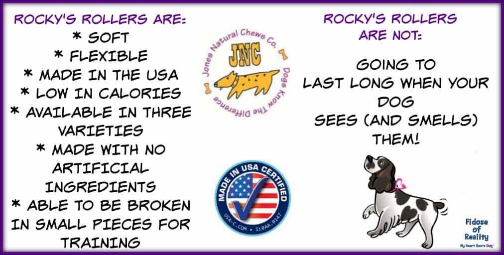 Rocky's Rollers from Jones Natural Chews #MakingDogsSmile #sponsored