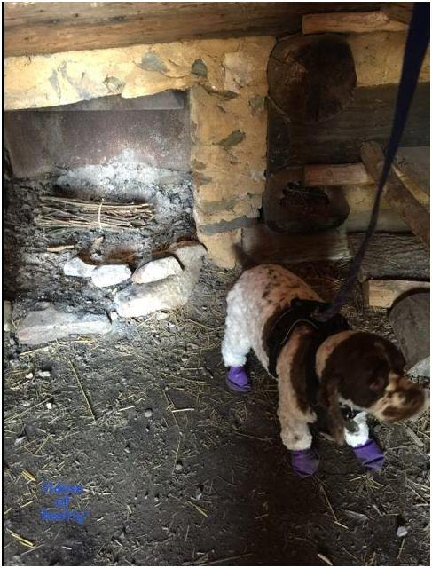Inside cabin at Valley Forge