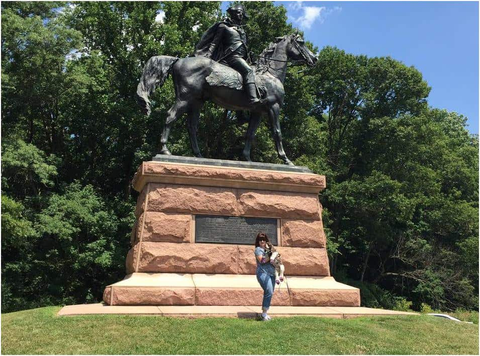Wayne statue at Valley Forge