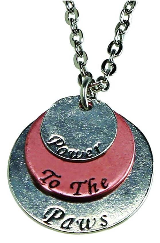 power to the paws necklace