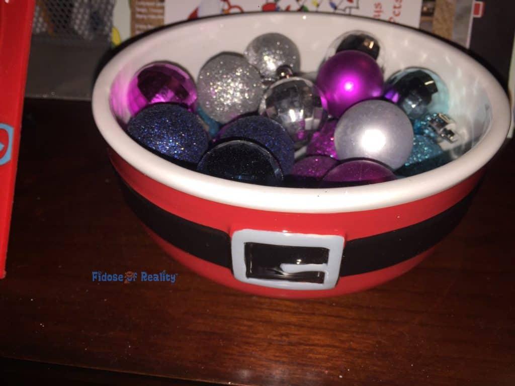 Santa's Bowl of Ornaments