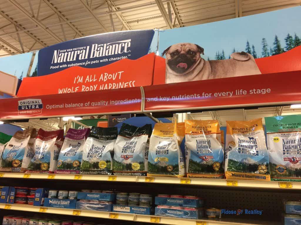 Natural Balance food at PetSmart