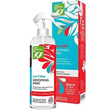 dog grooming spray