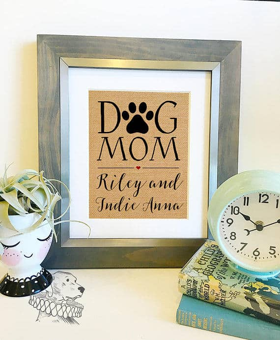 dog mom personalized print