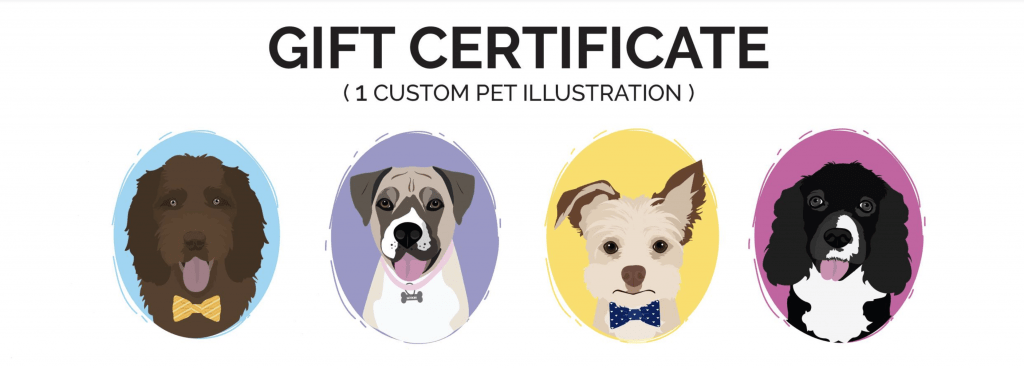 Dog custom artwork Halloween photo contest prize