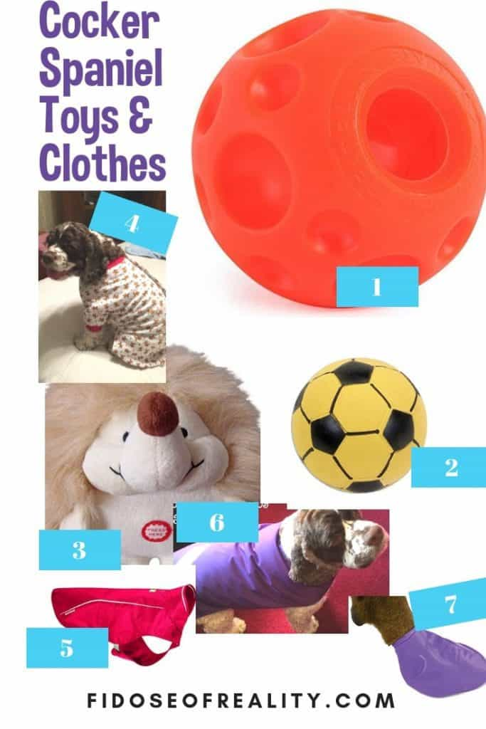 cocker spaniel gifts toys clothes