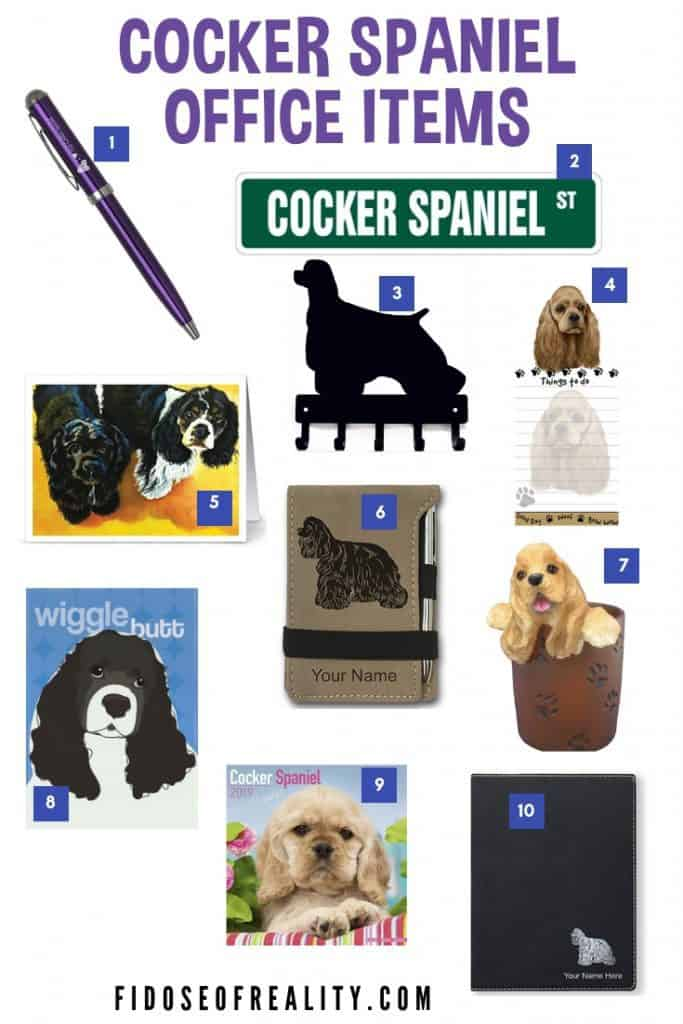 cocker spaniel office gifts
