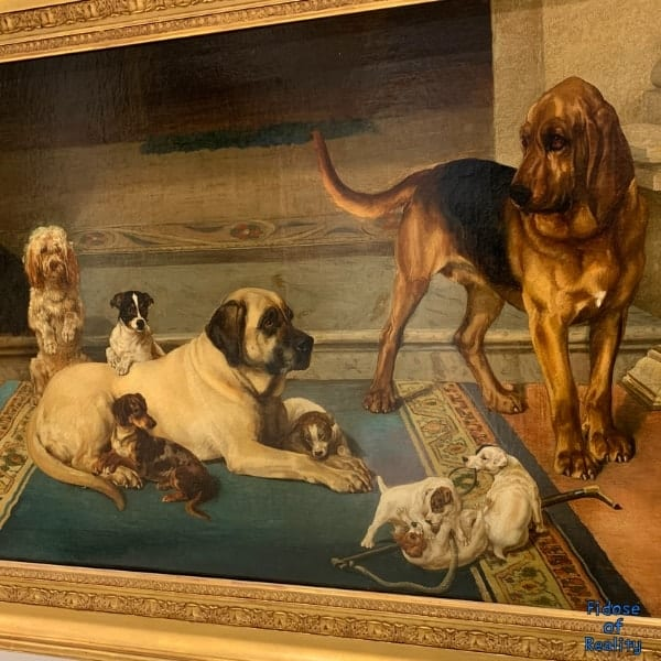 dog painting at dog museum
