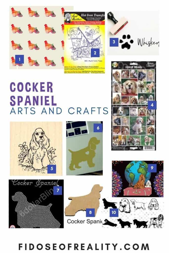 Cocker spaniel gifts arts and crafts