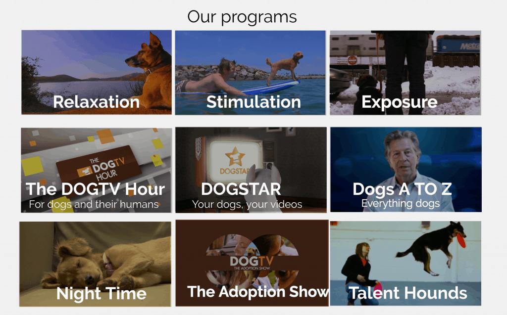 dog tv dog categories