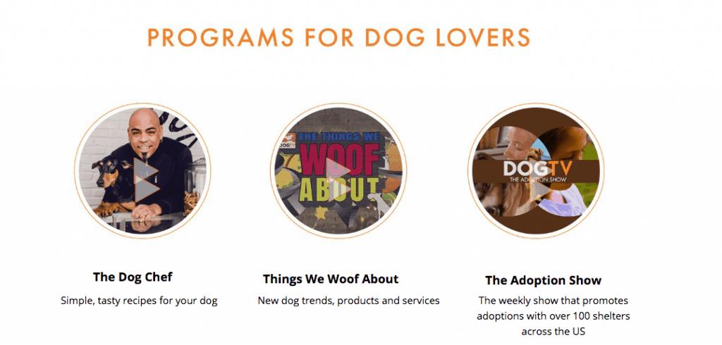 dog lovers dogtv