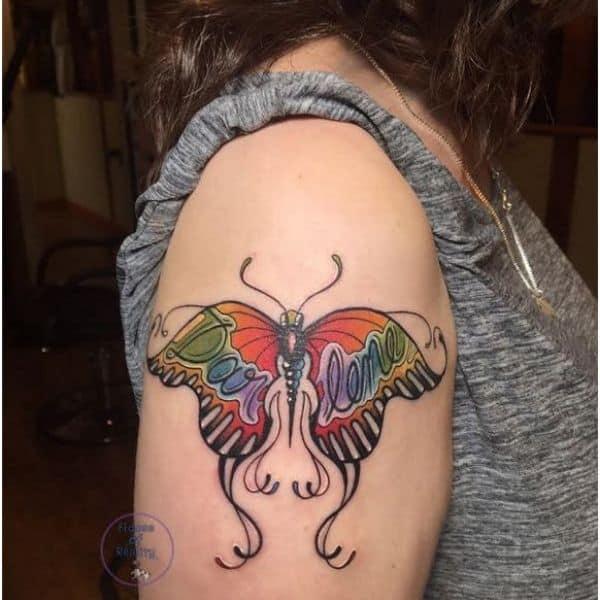 Darlene butterfly tattoo