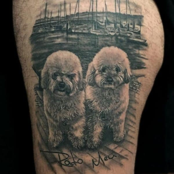 dog portrait tattoos