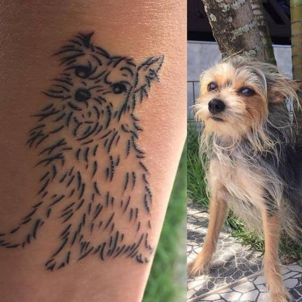 scruffy tattoo of dog