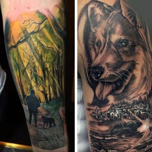 extreme tattoos for dog lovers