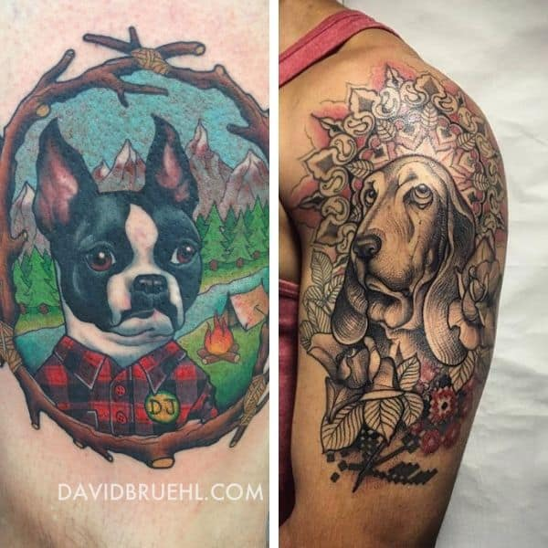 image heavy tattoo of canines