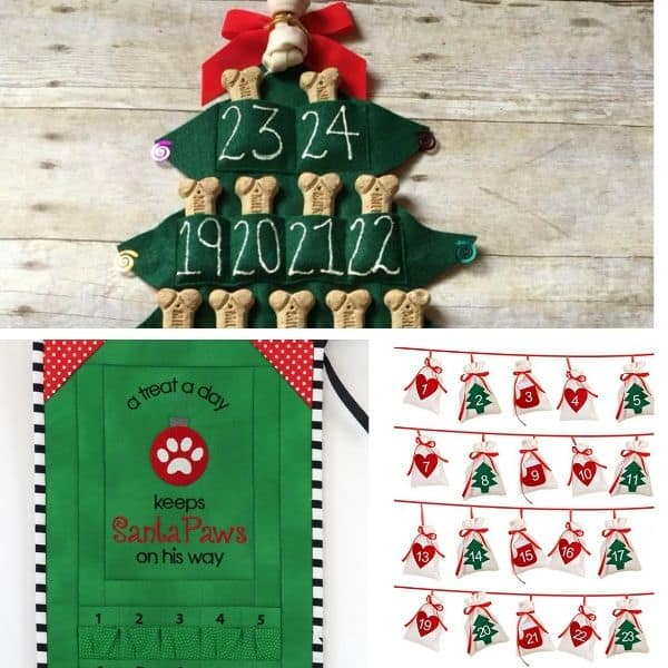 Christmas dog advent calendar
