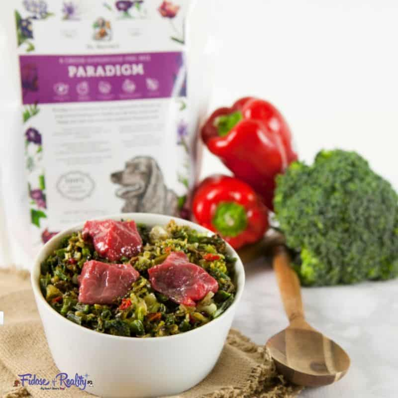 Paradigm vegetables for dogs