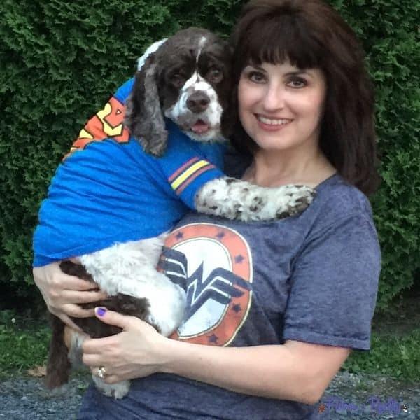 cocker spaniel and dog mom