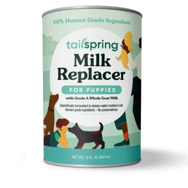 Tailspring milk replacer for puppies