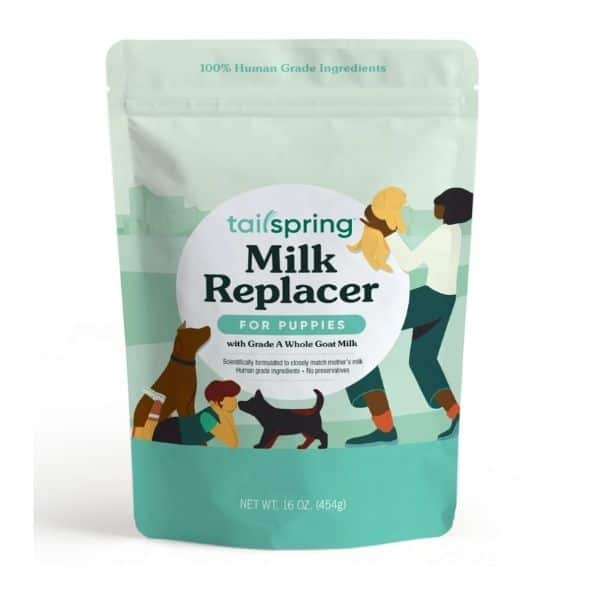 Tailspring milk replacer for puppies powdered