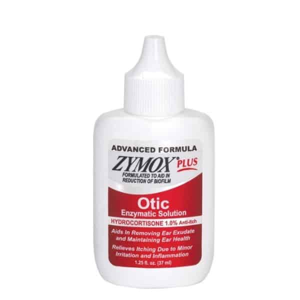 Zymox PLUS Otic Enzymatic Solution with 1% Hydrocortisone for dog's infected ears