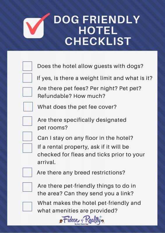 dog hotel checklist